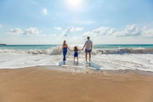 a family venturing into the Andaman Sea