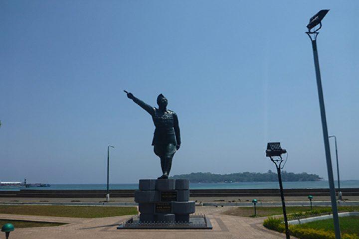 The statue of Netaji Subhash Chandra Bose in Port Blair