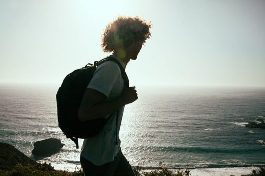 A backpacker exploring the Andaman Islands