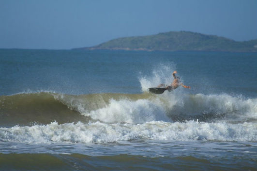 Surfing in the Andamans