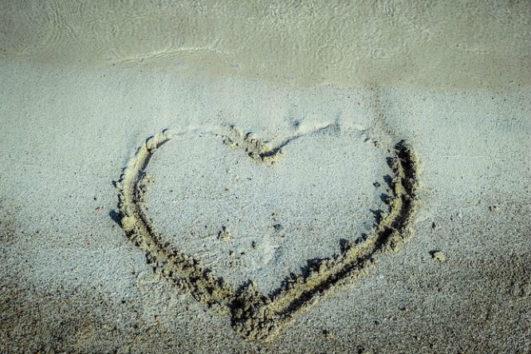 The soft sand of the Radhanagar Beach